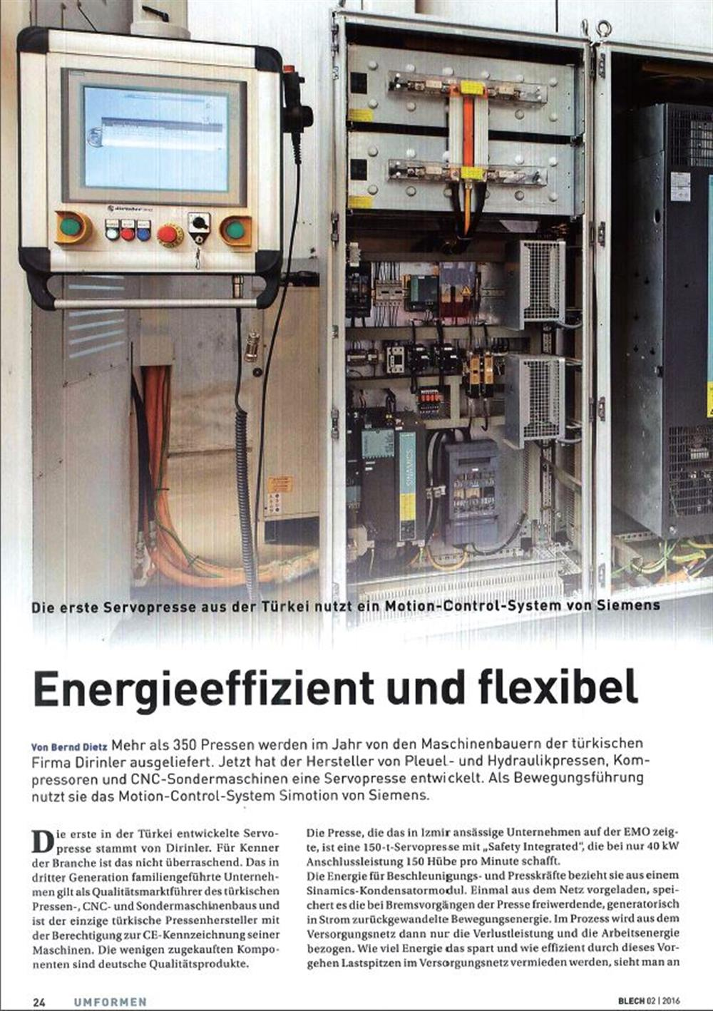 OUR FACTORY WAS IN GERMAN MAGAZINE