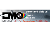 We will be at EMO' 15 Milano on between 5-11 October